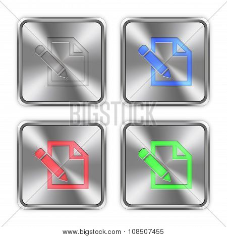 Color Edit Steel Buttons