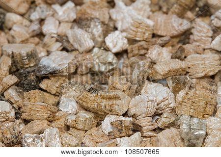 Exfoliated Perlite And Vermiculite Texture Background