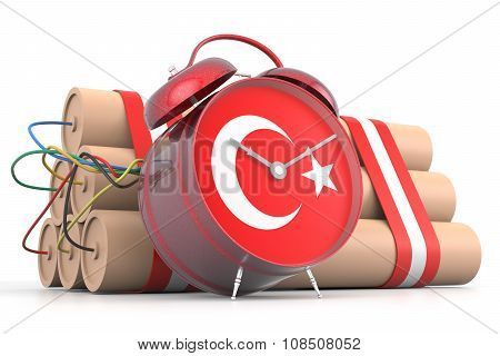 Time Bomb With Turkey Flag