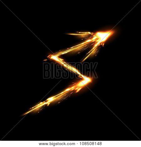 arrow light neon decorative effects