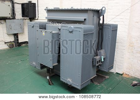 An industrial transformer