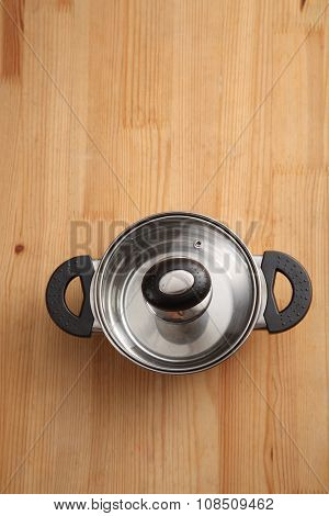 top view of cooking with lid closed