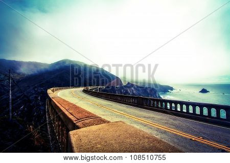 Bixby bridge in winter
