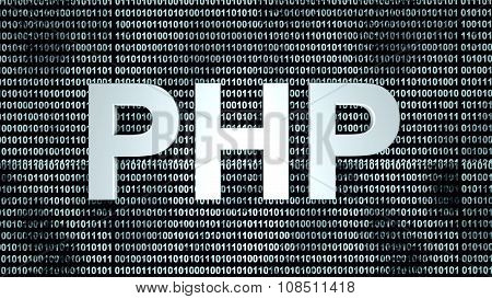 Php Binary Code Background