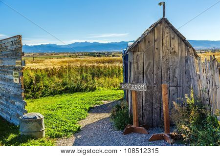 Old Rustic Outhouse
