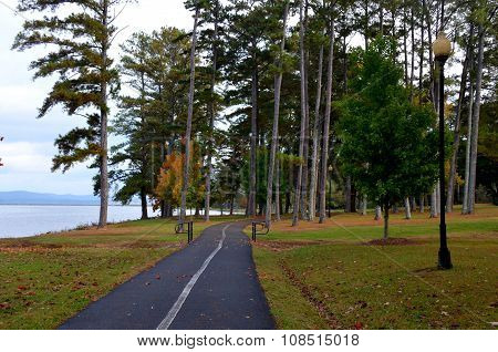 Paved walking trail