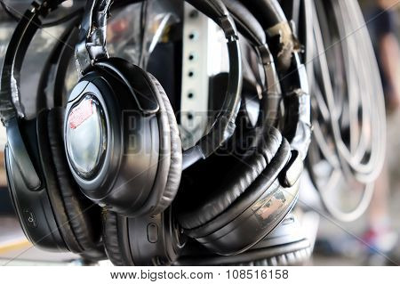 Headphones background