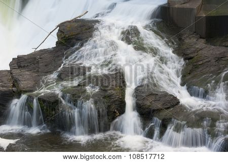 river water fall