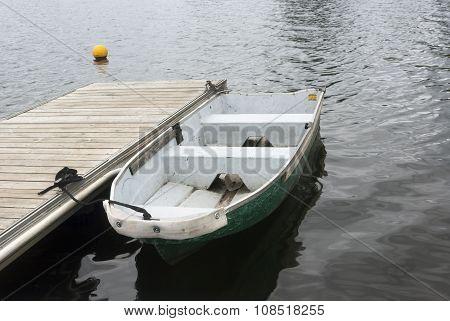 shallop on the quay edge