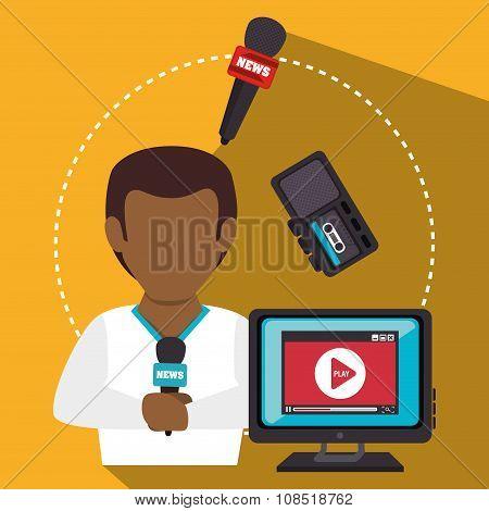 Mass media news graphic