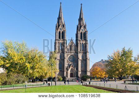 Neo-gothic St. Ludmila Church (j. Mocker, 1888), Vinohrady District, Prague, Czech Republic