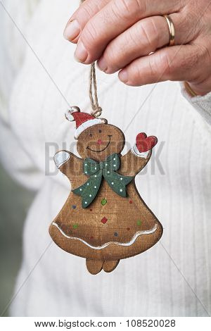Snowman Doll In Hand