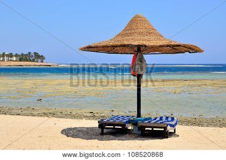 sandy beach in Marsa Alam,