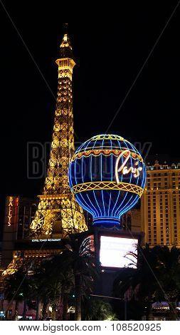The Paris Hotel & Casino in Las Vegas, Nevada