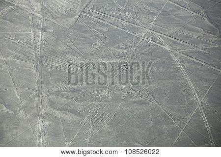 Aerial View Of Nazca Lines Geoglyphs In Peru