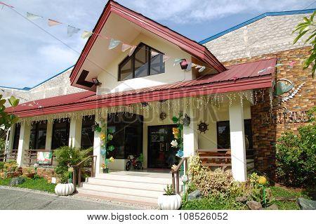 Cherubin Gardens coffee shop in Bulacan, Philippines