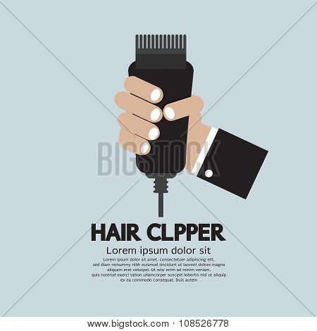 Hair Clipper, Tool Of Hairdresser.