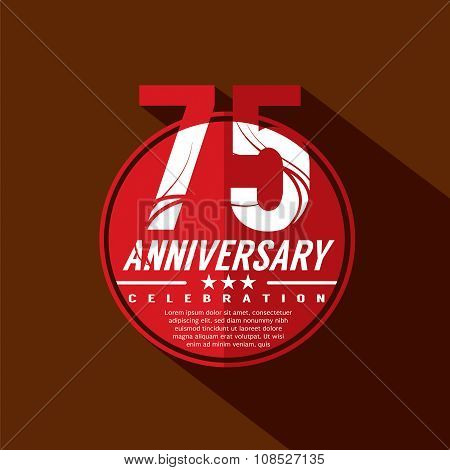 75 Years Anniversary Celebration Design.