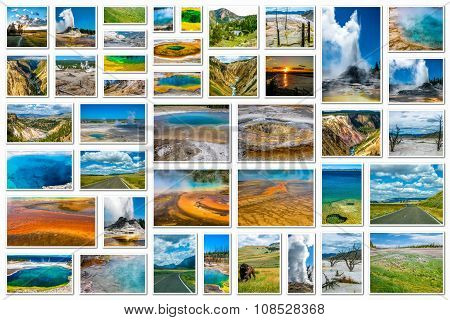 Yellowstone Landscapes Collage