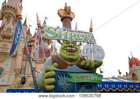 Shrek 4-D Adventure in Universal Studios Singapore