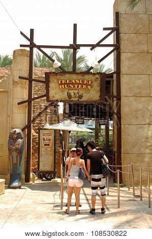 Treasure Hunters ride in Universal Studios Singapore