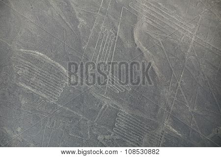 Aerial View Of Nazca Lines Geoglyphs In Peru.