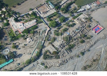 Aerial View Of Nazca Town In Peru.