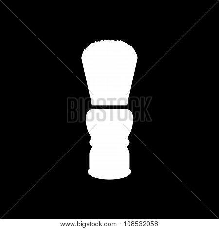 The shaving brush icon. Shaver symbol. Flat