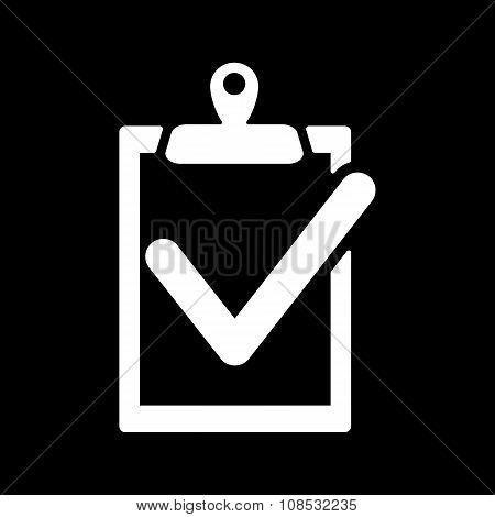 The clipboard icon. checklist symbol. Flat