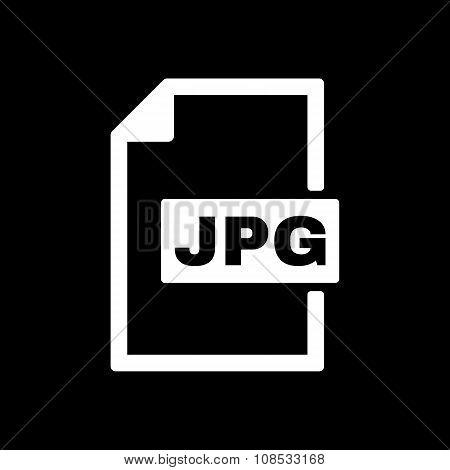 The JPG icon. File format symbol. Flat