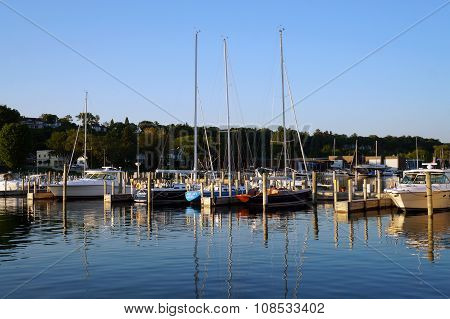 Boats Docked at the Harbor Springs Marina