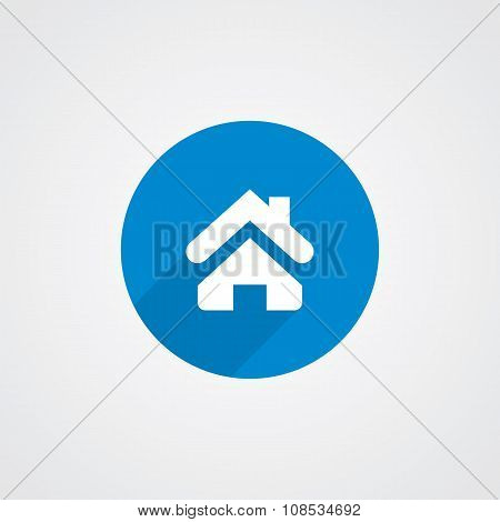 Blue Flat Home Icon