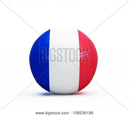 Soccer Ball French Flag