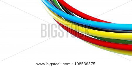 Rainbow Colored Cables Over