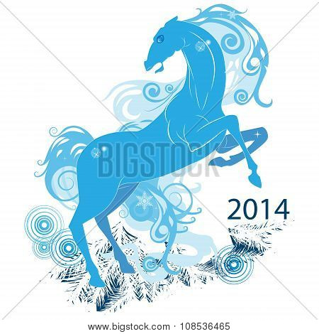 Abstract Horse, The Symbol Of 2014-