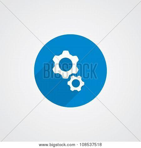 Flat Blue Settings Icon