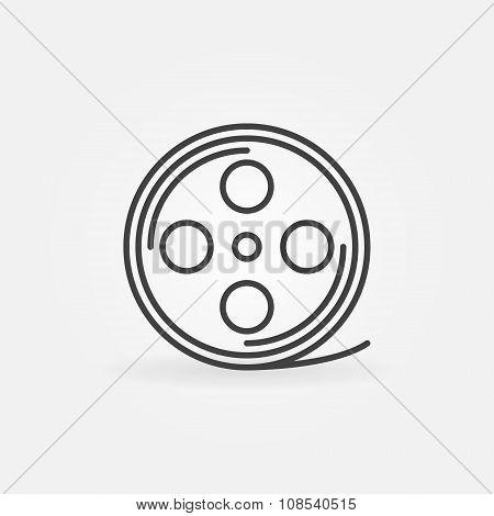 Film reel linear icon