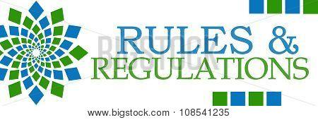 Rules And Regulations Green Blue Circular Horizontal