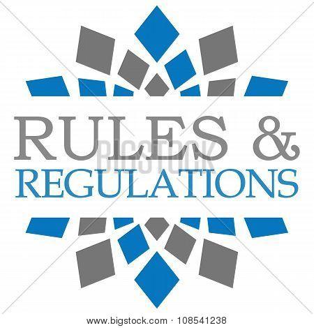 Rules And Regulations Blue Grey Circular