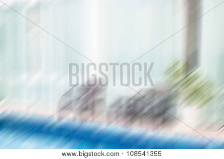 Abstract Motion Blur Outdoor Swimming Pool