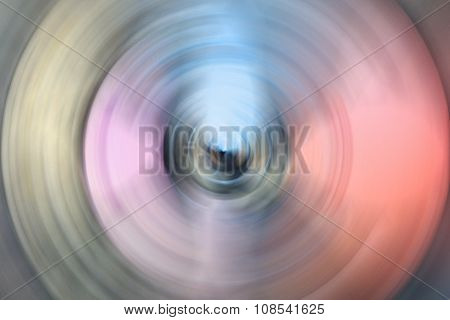 Abstract Radial Blur Colorful Background