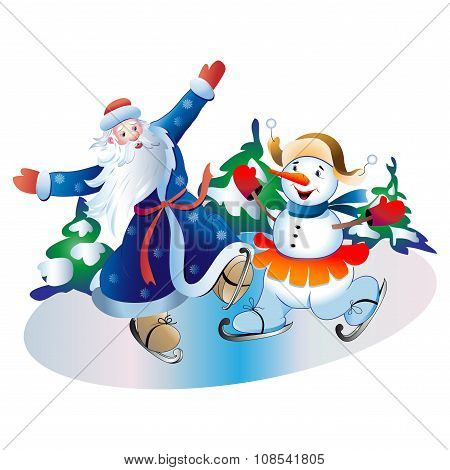 Father Frost And The Snowball