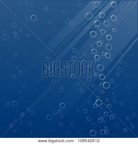 Bubbles underwater. Vector illustration.