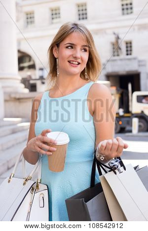 girl with a coffee