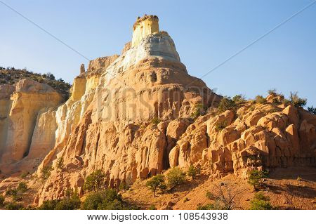 Chimney type sandstone  rock formation in New Mexico on the way to Chalma