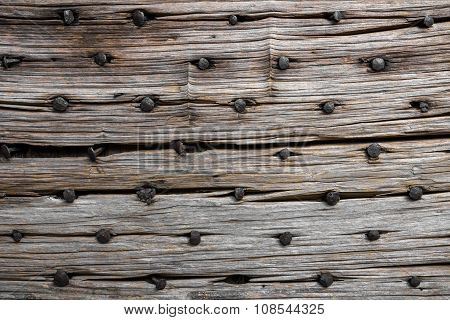 Rotten Wood With Nails