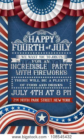 Greeting Card For Fourth Of July Holiday