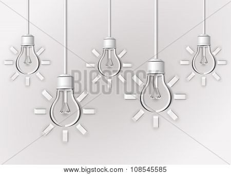 Paper Light Bulbs