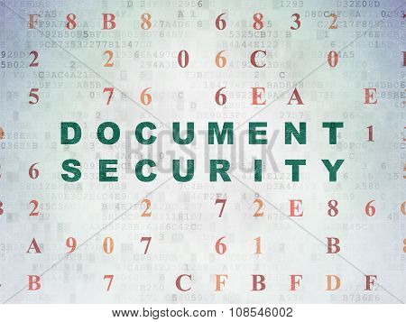 Privacy concept: Document Security on Digital Paper background