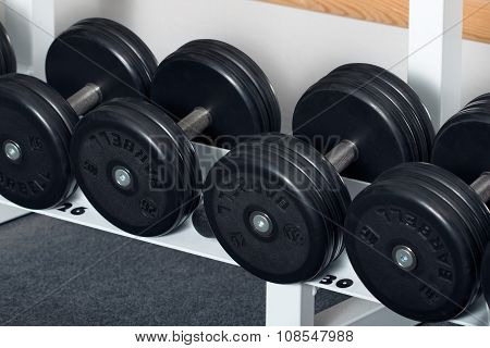 Close-up View Of Dumbbells